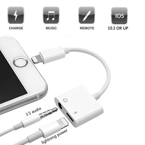 adapter f r iphone 7 going lightning auf 3 5 mm aux. Black Bedroom Furniture Sets. Home Design Ideas